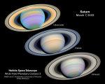 Saturn 7.brezna 2003 v ruznych vlnovych delkach (falesne barvy)