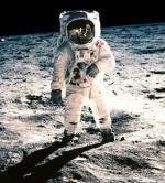 E. Aldrin na povrchu Měsíce. Autor: N. Armstrong.