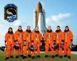 Posádka raketoplánu Endeavour (STS-126). Z leva: Sandra Magnus, Steve Bowen, Donald Pettit, Commander Chris Ferguson, Eric Boe, Shane Kimbrough and Heidemarie Stefanyshyn-Piper