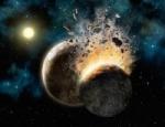 Srážka planety Nibiru se Zemí podle umělce