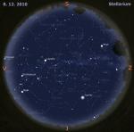 mapa oblohy pro 49. týden 2010, zdroj: Stellarium