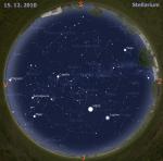 mapa oblohy pro 50. týden 2010, zdroj: Stellarium