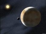 Eris se svým měsícem na Astronomickém snímku dne 19. června 2007