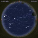 mapa oblohy pro 51. týden 2010, zdroj: Stellarium