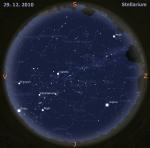 Mapa oblohy pro 52. týden 2010, zdroj: Stellarium