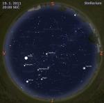 Mapa oblohy pro 3. týden 2011, zdroj: Stellarium