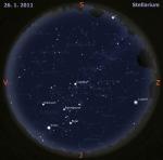 Mapa oblohy pro 4. týden 2011, zdroj: Stellarium