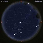 Mapa oblohy pro 5. týden 2011, zdroj: Stellarium