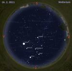 Mapa oblohy pro 7. týden 2011, zdroj: Stellarium