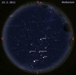 Mapa oblohy pro 8. týden 2011, zdroj: Stellarium