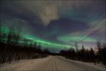 Polární záře 1. března 2011 nad Murmanskem v Rusku. Foto: Maxim Letovaltsev.