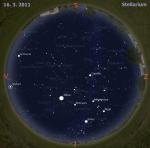 Mapa oblohy pro 11. týden 2011, zdroj: Stellarium
