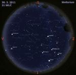 Mapa oblohy pro 13. týden 2011, zdroj: Stellarium