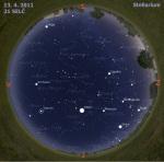 Mapa oblohy pro 15. týden 2011, zdroj: Stellarium