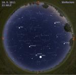 Mapa oblohy 18. 5. 2011, zdroj: Stellarium