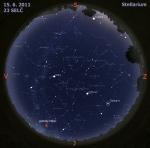 Mapa oblohy 15. 6. 2011, zdroj: Stellarium
