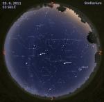 Mapa oblohy 29. 6. 2011, zdroj: Stellarium