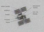 ISS a STS135 Atlantis před Sluncem 16.7.2011. Autor: Martin Gembec