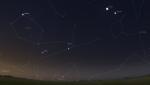 seskupení 24.7.2011, zdroj:Stellarium
