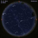 Mapa oblohy 31. 8. 2011, zdroj: Stellarium