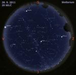 Mapa oblohy 28. 9. 2011, zdroj: Stellarium