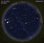 Mapa oblohy 12. 10. 2011, zdroj: Stellarium