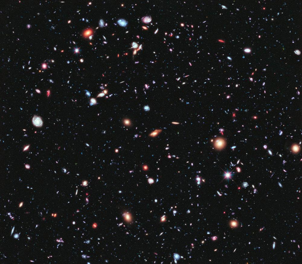 Extrémně hluboký pohled do vesmíru Hubbleovým dalekohledem