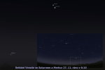 Venuše se Saturnem 27.11.2012. Pomocí programu Stellarium. Autor: Martin Gembec