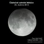 Simulační snímek částečného zatmění Měsíce 25. dubna 2013. Autor: EAI.