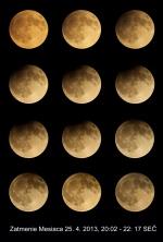 Zatmenie Mesiaca. Autor: P. Rapavý