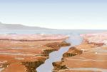 Dávné řeky a moře na Marsu - kresba Foto: NASA