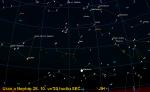 Uran a Neptun, mapa pro 28. říjen 2013, podobně platí i v dalších dnech po půl osmé večer. Data: Guide 9 Autor: Martin Gembec