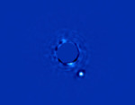 Fotografie exoplanety beta Pictoris b Autor: Gemini South