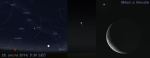 Měsíc a Venuše - konjunkce 26. 2. 2014 - mapka podle Stellaria Autor: Martin Gembec