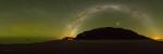 Airglow Opotiki: Canon 6D, Sigma 15 mm, f3,5, ISO 8 000, panorama ze 13x25s snímků, stativ Autor: Petr Horálek