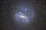 Velký Magellanův oblak LMC: Canon 6D, Tamron 70-300 mm @ 92 mm, f4,5, 72x15 s, ISO 16 000, kalibrováno o darkframy, stativ Autor: Petr Horálek