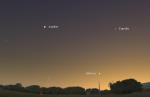 Mapka v vyhledání Merkuru v květnu 2014. Data: Stellarium Autor: Martin Gembec