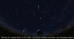 Radiant možného roje Camelopardalid 2014. Data: Stellarium Autor: Martin Gembec