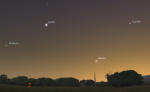 Merkur 23. 5. 2014, mapa oblohy. Data: Stellarium Autor: Martin Gembec