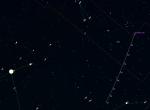 Mapka pro kometu C/2014 E2 (Jacques) v 39. týdnu 2014. Data: Guide 9 Autor: Martin Gembec