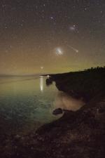 Magellanova mračna a Perseida. Autor: Petr Horálek.