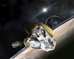 Průlet sondy New Horizons nad povrchem Pluta - kresba Foto: NASA