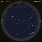 Mapa oblohy 17. prosince 2014 v 18:00 SEČ. Data: Stellarium Autor: Martin Gembec