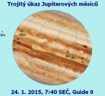 Jupiter trojitý úkaz 24. 1. 2015, data Guide Autor: Martin Gembec