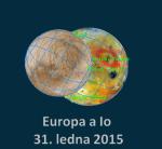 Zákryt Io měsícem Europa 31. ledna 2015 po 20:30 SEČ, Guide 9 Autor: Martin Gembec