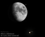 Měsíc a Aldebaran 29. ledna 2015 v 18:00 SEČ podle Stellaria Autor: Martin Gembec