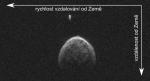 Na radarových snímcích narůstá vzdálenost od Země směrem dolů a rychlost vzdalování od Země směrem doprava. Autor: Petr Scheirich