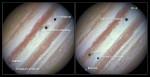 Přechod měsíců přes planetu Jupiter Autor: NASA, ESA