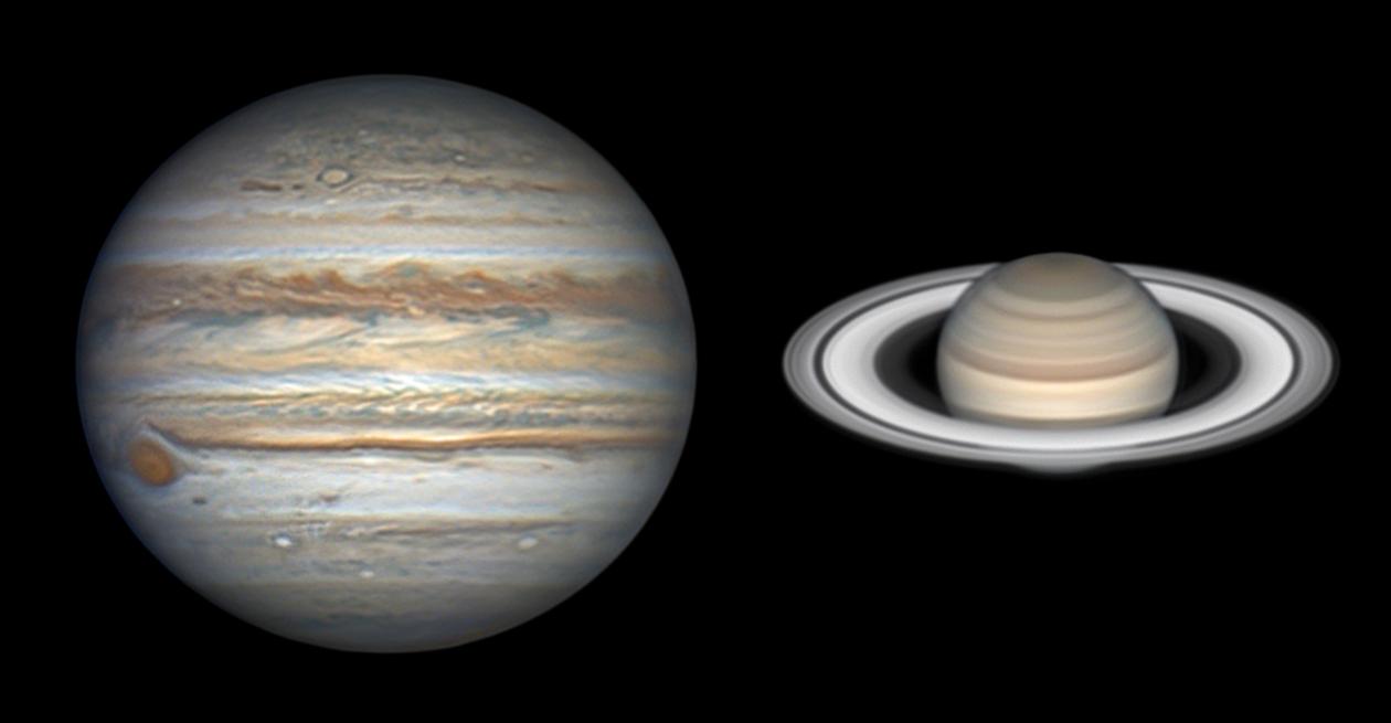 Letní obři Jupiter a Saturn Autor: Jean-Luc Dauvergne