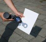 Promítání obrazu Slunce z triedru na stínítko